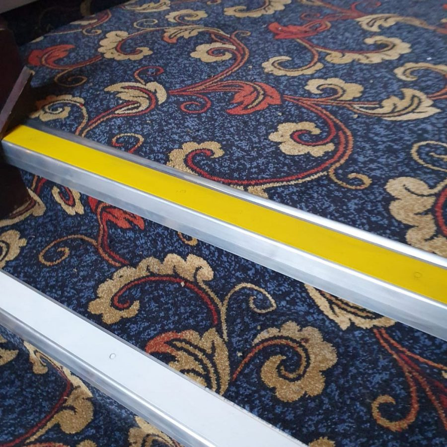 oldham wetherspoons new carpet stairs closeup