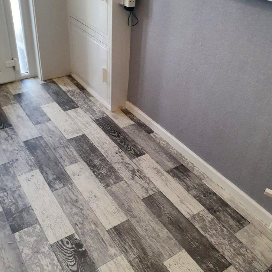 final photo of hallway cushion flooring